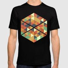 Triangle Pattern II Black MEDIUM Mens Fitted Tee