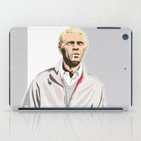 steve mcqueen iPad Cases featuring Steve McQueen by drawgood