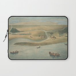 Vintage Map of Chicago in 1820 Laptop Sleeve