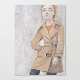 Trenchcoat Canvas Print