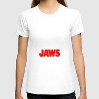 jaws T-shirts featuring Jaws by IIIIHiveIIII