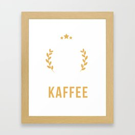 The only thing I need is coffee. Framed Art Print