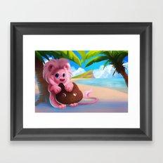 Lion on the Beach Framed Art Print
