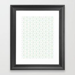 Hive Mind Mint Green #216 Framed Art Print