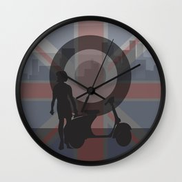 Scooter Girl 1 Wall Clock