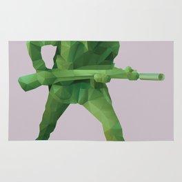 Toy Soldier Polygon Art Rug