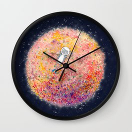 Just Chillin' on a Flower Moon Wall Clock