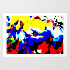 Abstract Flowers 01 Art Print