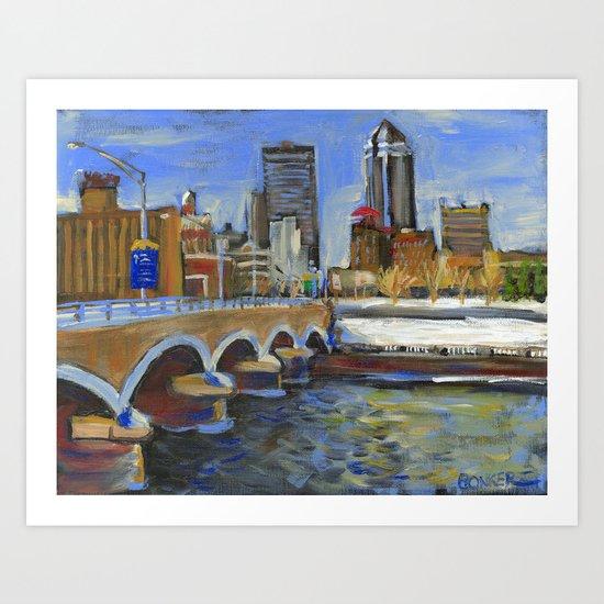 Des Moines, Iowa Art Print