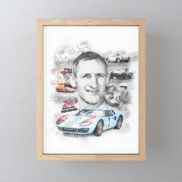 Ken Miles Framed Mini Art Print