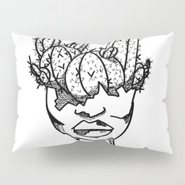 Cactus Head Pot, Strength and Scars by Pablo Rodriguez (Pabzoide) Pillow Sham