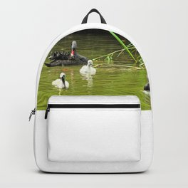 Swan Family Swans and Two Cygnets Backpack