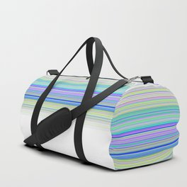Aqua White Stripes Duffle Bag