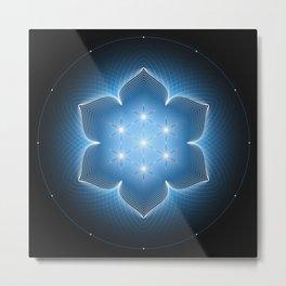 Lotus   Sacred geometry Metal Print