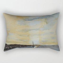 Last light on the bay Rectangular Pillow