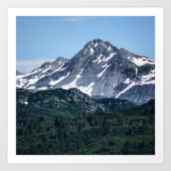 Mountains in Focus Art Print