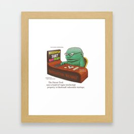 The Patent Troll Framed Art Print