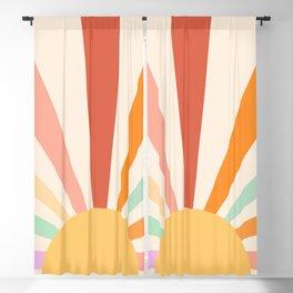 Boho Sun Colorful Blackout Curtain