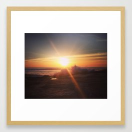 Sunset - Paramos, Espinho, Portugal Framed Art Print