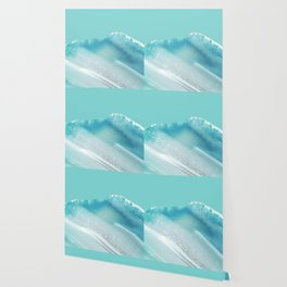 Geode Crystal Turquoise Blue Wallpaper