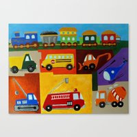 cars Canvas Prints featuring Cars  by MNA Art And Graphics