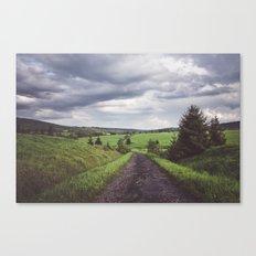 Road to nonexistent village Canvas Print