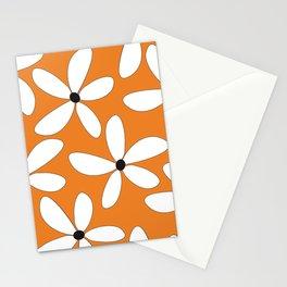 Happy Flowers Orange Stationery Cards