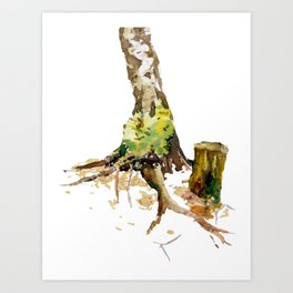 Forest atmosphere Art Print