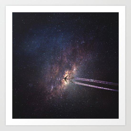 intergalactic space travel Art Print