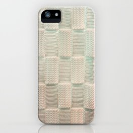 Interlace White Satin iPhone Case