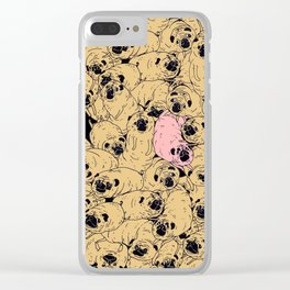 a lot a of pugs Clear iPhone Case