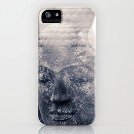 head of stone buddha iPhone Case