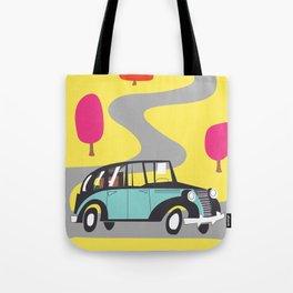 vintage car cartoon Tote Bag