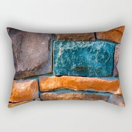 Colored Stone Wall Rectangular Pillow