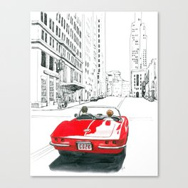 Vette In The City Canvas Print
