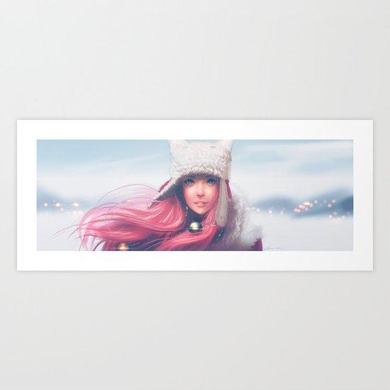 Snowy Mei Art Print