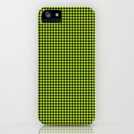Large Slime Green and Black Hell Hounds Tooth Check iPhone Case