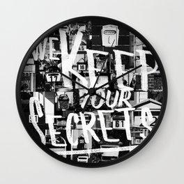 We Keep Your Secrets Wall Clock