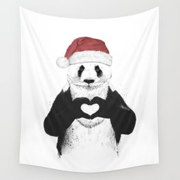 Santa panda Wall Tapestry