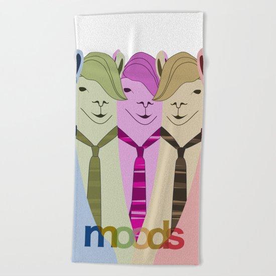 My Many Moods  Beach Towel