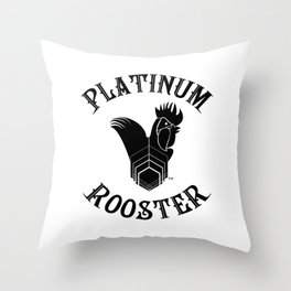 PLATINUM ROOSTER ~ Our Logo! Put it on your wall!  Throw Pillow