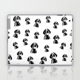 GERMAN POINTER SHORTHAIRED DOG, CHRISTMAS GIFT WRAPPED FOR ALL Laptop & iPad Skin