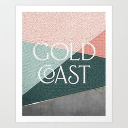Gold Coast (Green) Art Print