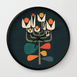 Retro botany Wall Clock
