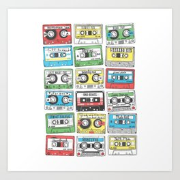 80s Playlist Art Print