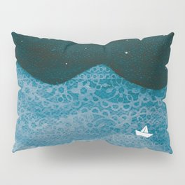 ornament ocean, moon & boat Pillow Sham