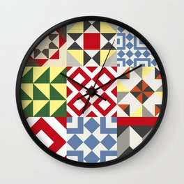 Barcelona Tiles #12 Wall Clock