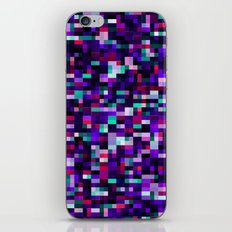 Noise pattern - blue/purple iPhone & iPod Skin