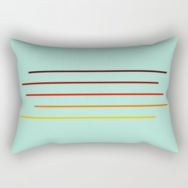 Minimal Abstract Colorful Stripes On Green Rectangular Pillow