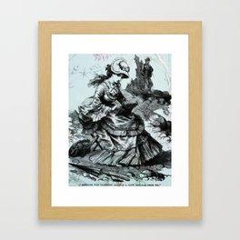 The landscape artist Framed Art Print